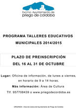 Talleres Educativos Municipales 2014/2015